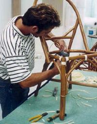 Fabrication mobilier en rotin